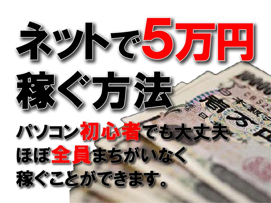 ネットで5万円稼ぐ方法900